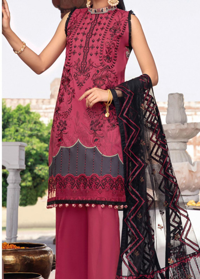 Andaaz by Ramsha Embroidered Lawn Suits Unstitched 3 Piece RSH21A 105 - Luxury Collection