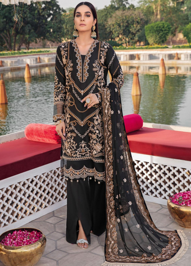 Andaaz by Ramsha Embroidered Lawn Suits Unstitched 3 Piece RSH21A 108 - Luxury Collection