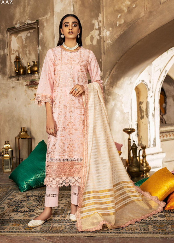 Andaaz By Zarif Embroidered Lawn Suits Unstitched 3 Piece ZF21A 01 Gulnaaz - Summer Collection