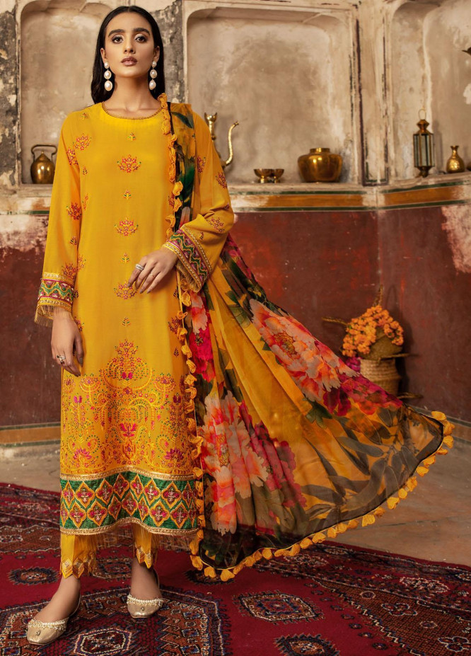 Andaaz By Zarif Embroidered Lawn Suits Unstitched 3 Piece ZF21A 07 Meher Bano - Summer Collection