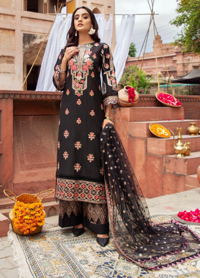 Andaaz By Zarif Embroidered Lawn Suits Unstitched 3 Piece ZF21A 10 Gul Bahaar - Summer Collection