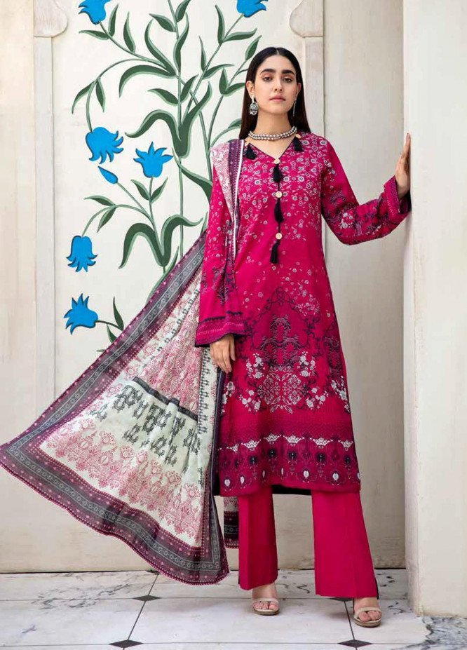 Angan By Banafsheh Printed Lawn Suits Unstitched 3 Piece BF21A 01 - Summer Collection