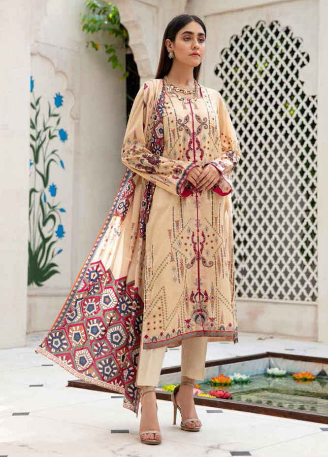 Angan By Banafsheh Printed Lawn Suits Unstitched 3 Piece BF21A 03 - Summer Collection