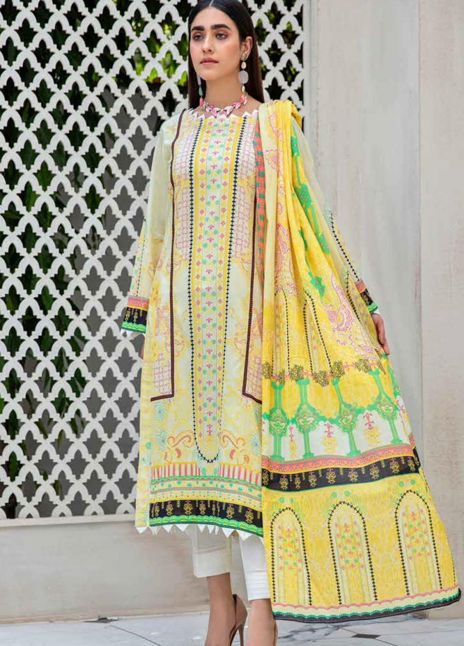 Angan By Banafsheh Printed Lawn Suits Unstitched 3 Piece BF21A 06 - Summer Collection