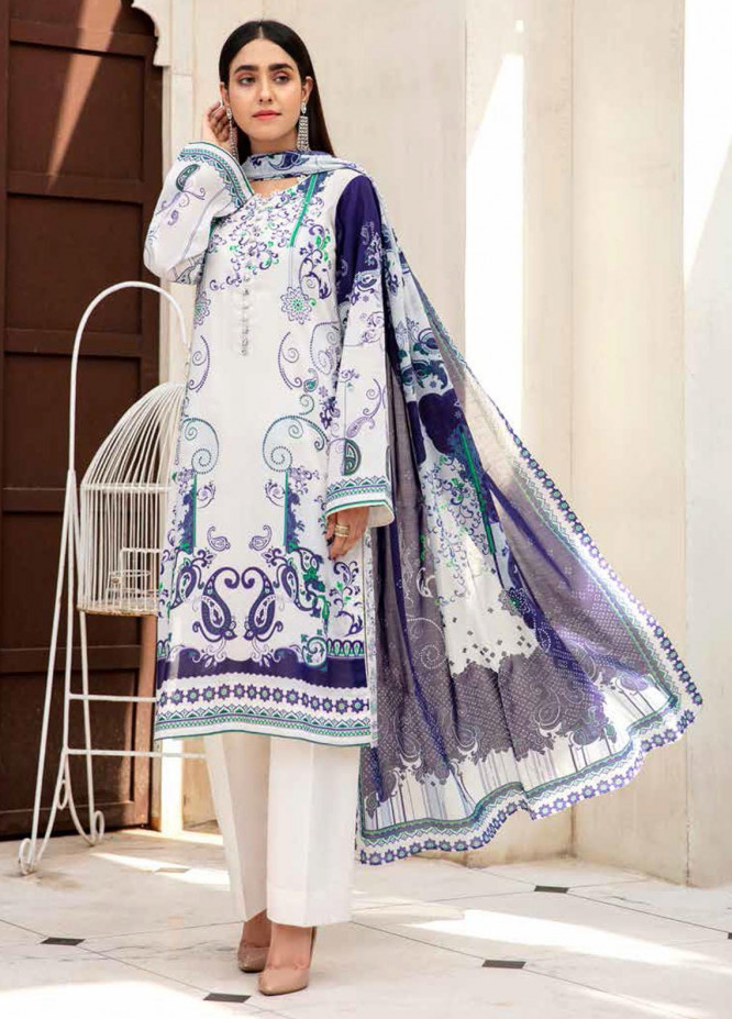 Angan By Banafsheh Printed Lawn Suits Unstitched 3 Piece BF21A 07 - Summer Collection