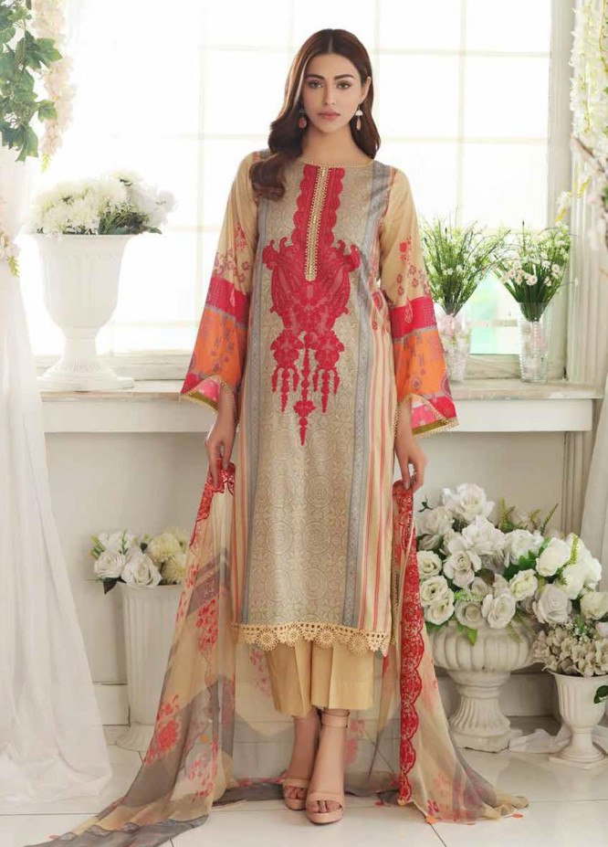 Aniq by Charizma Embroidered Lawn Suits Unstitched 3 Piece CRZ21A 07 - Summer Collection