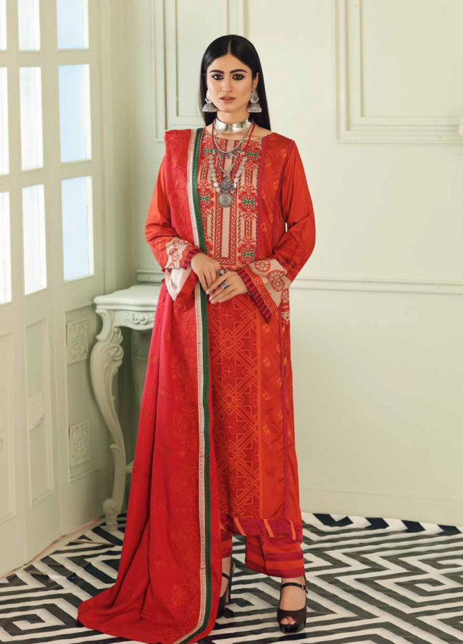 Charizma Embroidered Kotail Suits Unstitched 3 Piece CRZ21AK ANW-02 - Winter Collection