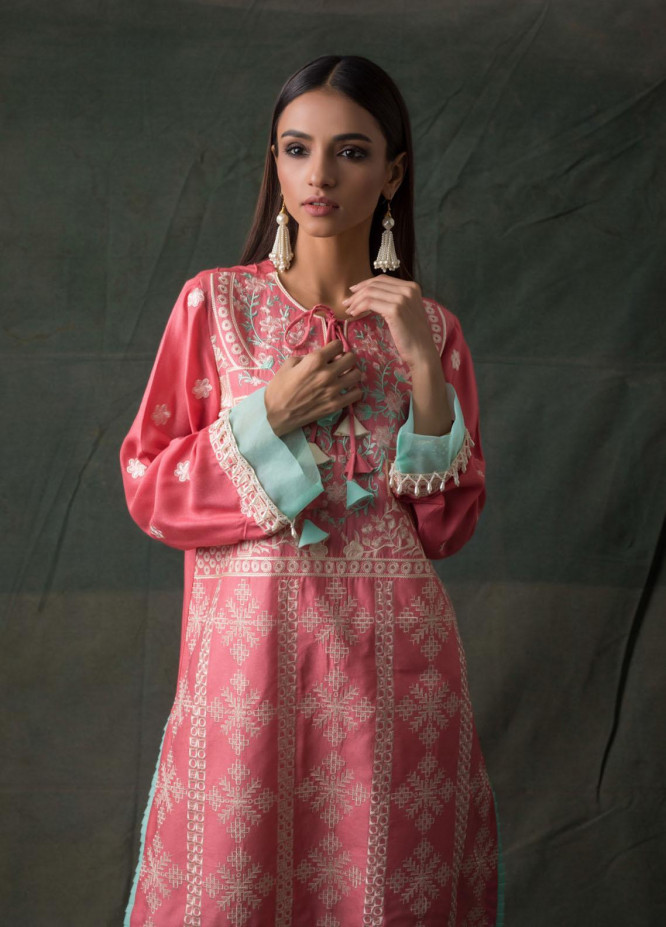 Areeba Saleem Embroidered Lawn  Unstitched Kurties AS21K 01 - Summer Collection