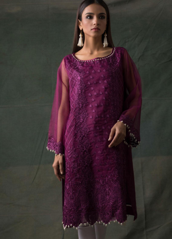 Areeba Saleem Embroidered Lawn  Unstitched Kurties AS21K 02 - Summer Collection