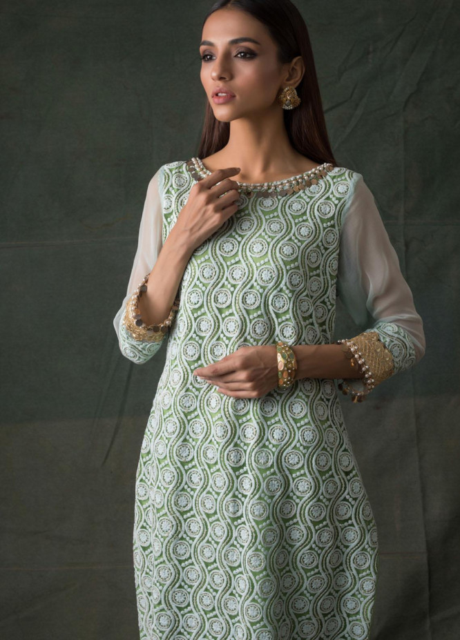 Areeba Saleem Embroidered Lawn  Unstitched Kurties AS21K 03 - Summer Collection