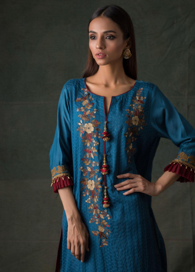 Areeba Saleem Embroidered Lawn  Unstitched Kurties AS21K 10 - Summer Collection