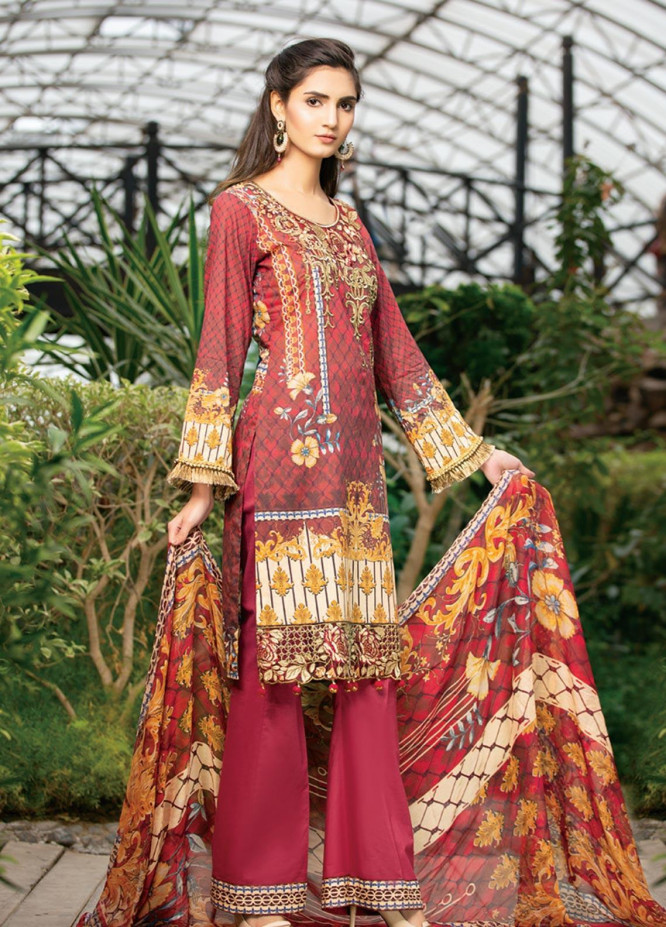 Arena by Mohagni Embroidered Lawn Unstitched 3 Piece Suit MO20A-02 - Spring / Summer Collection