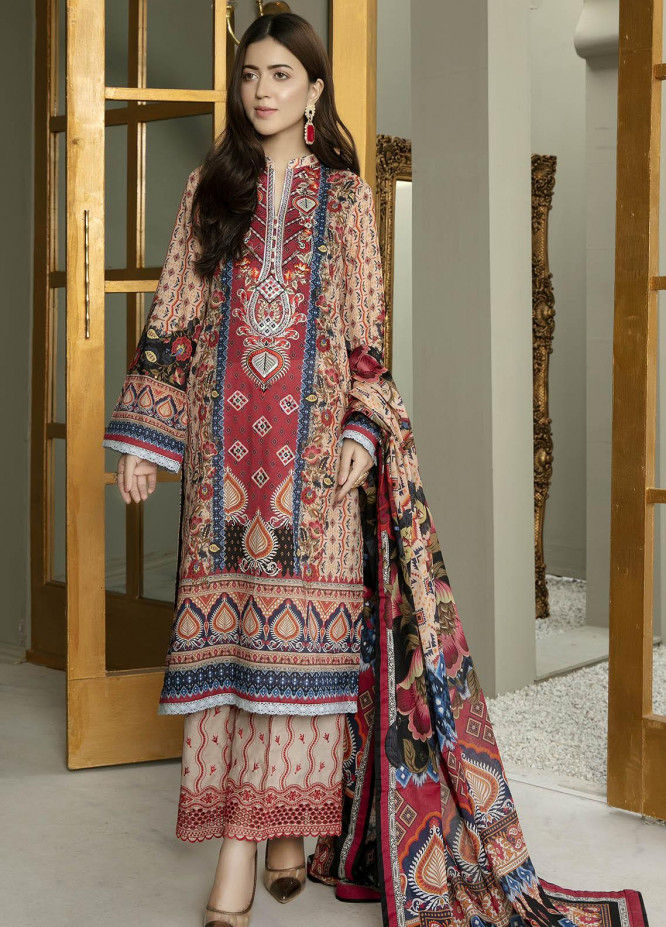 Arwa by Adan's Libas Embroidered Lawn Suits Unstitched 3 Piece AL21AR-2 D-03 - Summer Collection