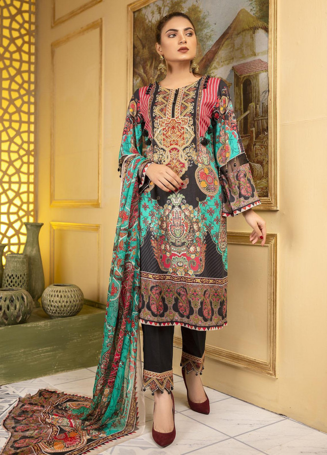Arwa by Adan's Libas Embroidered Lawn Unstitched 3 Piece Suit AL21AR D-07 - Summer Collection
