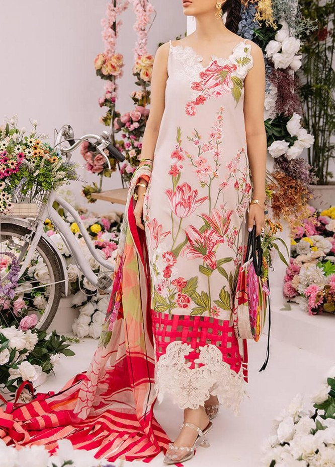 Ariana By Asifa & Nabeel Embroidered Lawn Suits Unstitched 3 Piece AN21A  AMOUR 4A - Luxury Collection