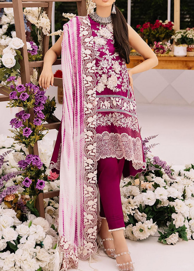 Ariana By Asifa & Nabeel Embroidered Lawn Suits Unstitched 3 Piece AN21A  ELANIE 8B - Luxury Collection