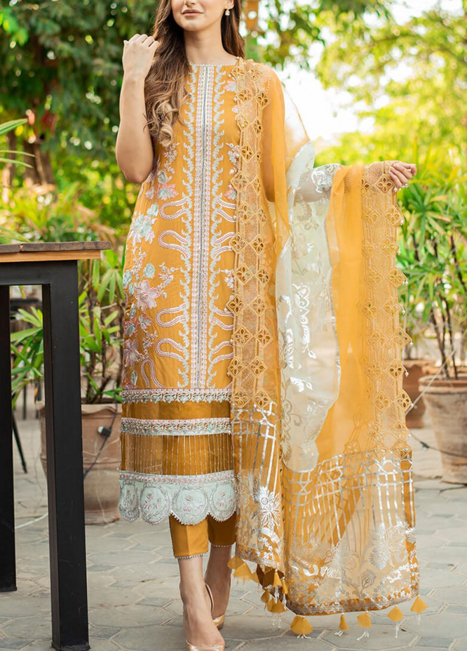 Ariana By Asifa & Nabeel Embroidered Lawn Suits Unstitched 3 Piece AN21A  FLORIAN 6A - Luxury Collection