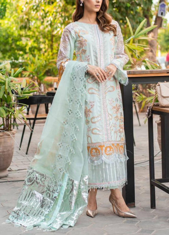 Ariana By Asifa & Nabeel Embroidered Lawn Suits Unstitched 3 Piece AN21A  FLORIAN 6B - Luxury Collection
