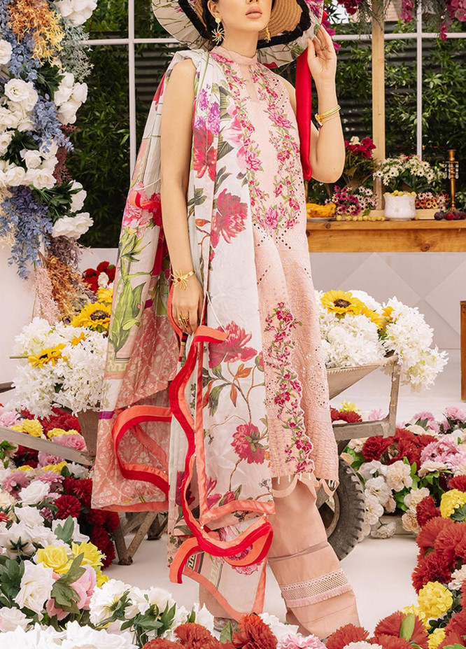 Ariana By Asifa & Nabeel Embroidered Lawn Suits Unstitched 3 Piece AN21A  FREESIA 3B - Luxury Collection