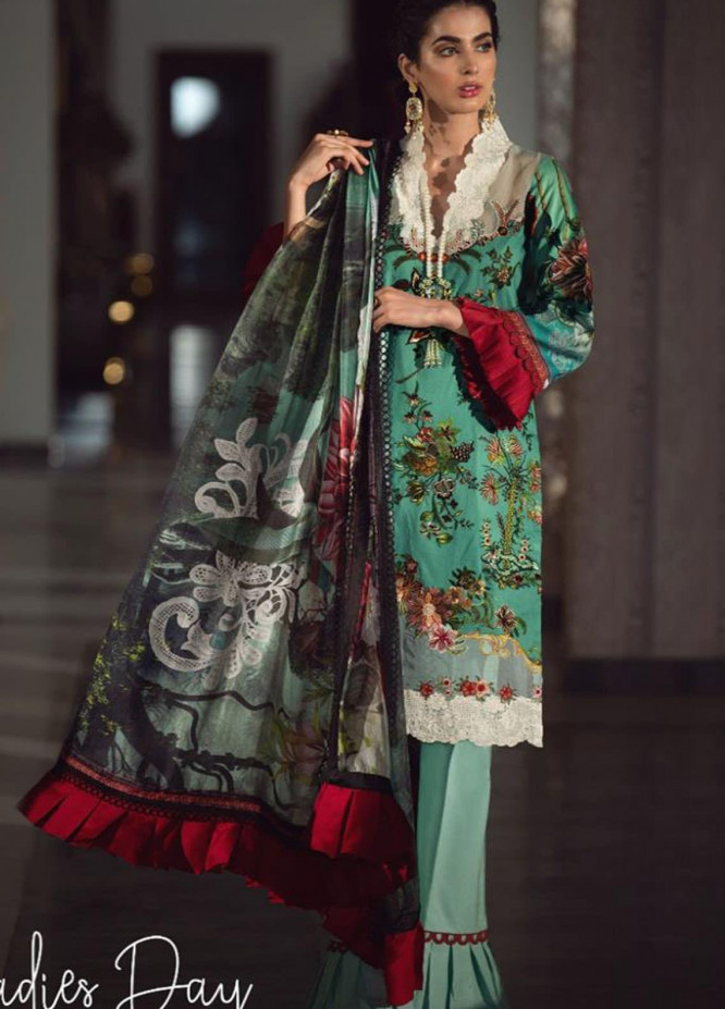 Lamour By Asifa & Nabeel Embroidered Lawn Suits Unstitched 3 Piece AN21L 15-L Ladies Day - Luxury Collection