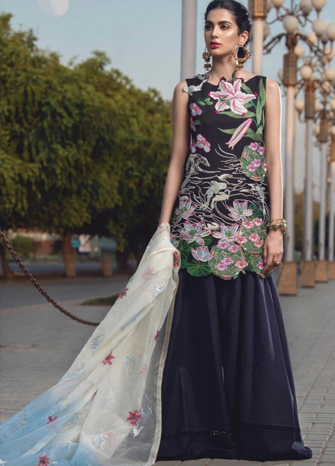 Lamour By Asifa & Nabeel Embroidered Lawn Suits Unstitched 3 Piece AN21L 21-F Essence of Life - Luxury Collection