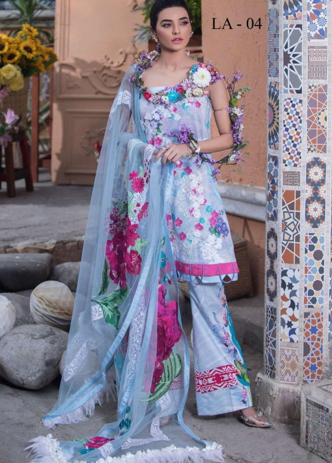 Liliana by Asifa & Nabeel Embroidered Lawn Suits Unstitched 3 Piece AN21SS 04 Montez - Spring / Summer Collection