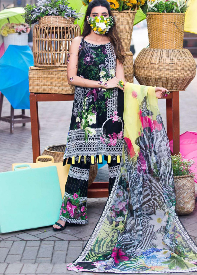 Liliana by Asifa & Nabeel Embroidered Lawn Suits Unstitched 3 Piece AN21SS 05 Leonor - Spring / Summer Collection