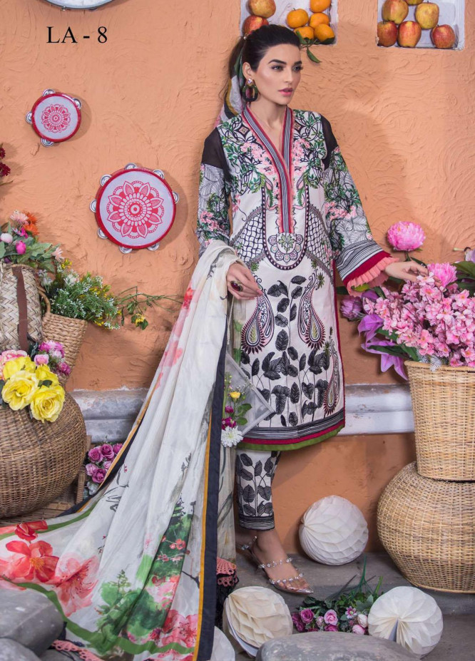 Liliana by Asifa & Nabeel Embroidered Lawn Suits Unstitched 3 Piece AN21SS 08 Joel - Spring / Summer Collection
