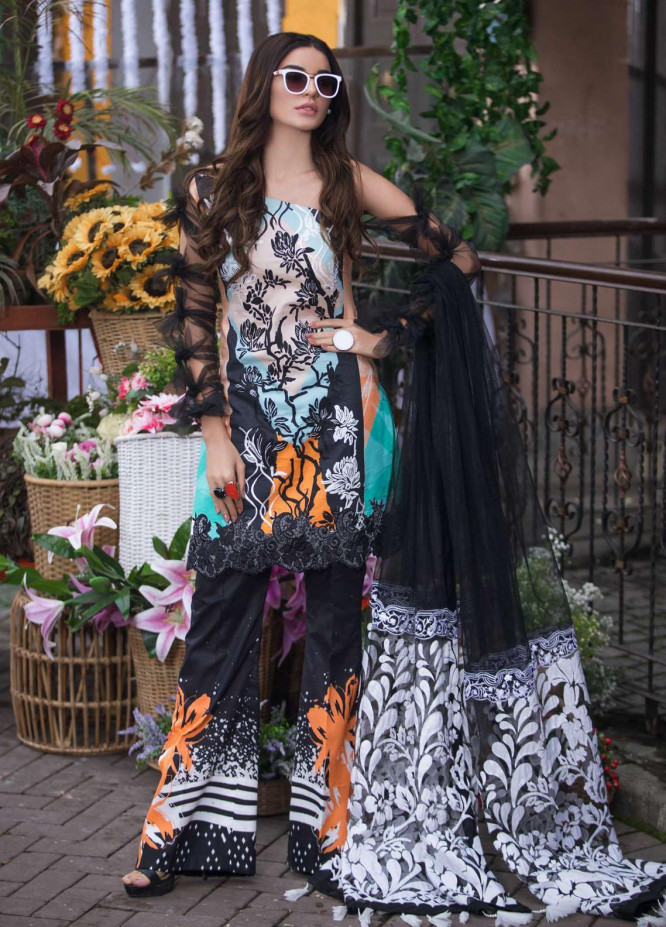Liliana by Asifa & Nabeel Embroidered Lawn Suits Unstitched 3 Piece AN21SS 11 Lillynn - Spring / Summer Collection