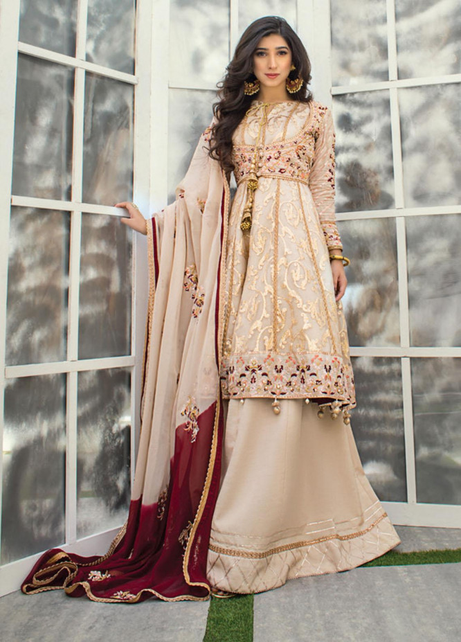 Asim Jofa Embroidered Organza Suits Unstitched 3 Piece AJ21LE 10 - Luxury Collection