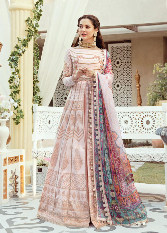 Rabt By Asim Jofa Embroidered Lawn Suits Unstitched 3 Piece AJ21RL 02 - Luxury Collection