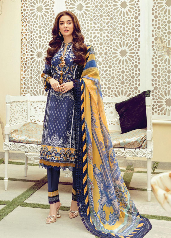 Rabt By Asim Jofa Embroidered Lawn Suits Unstitched 3 Piece AJ21RL 03 - Luxury Collection