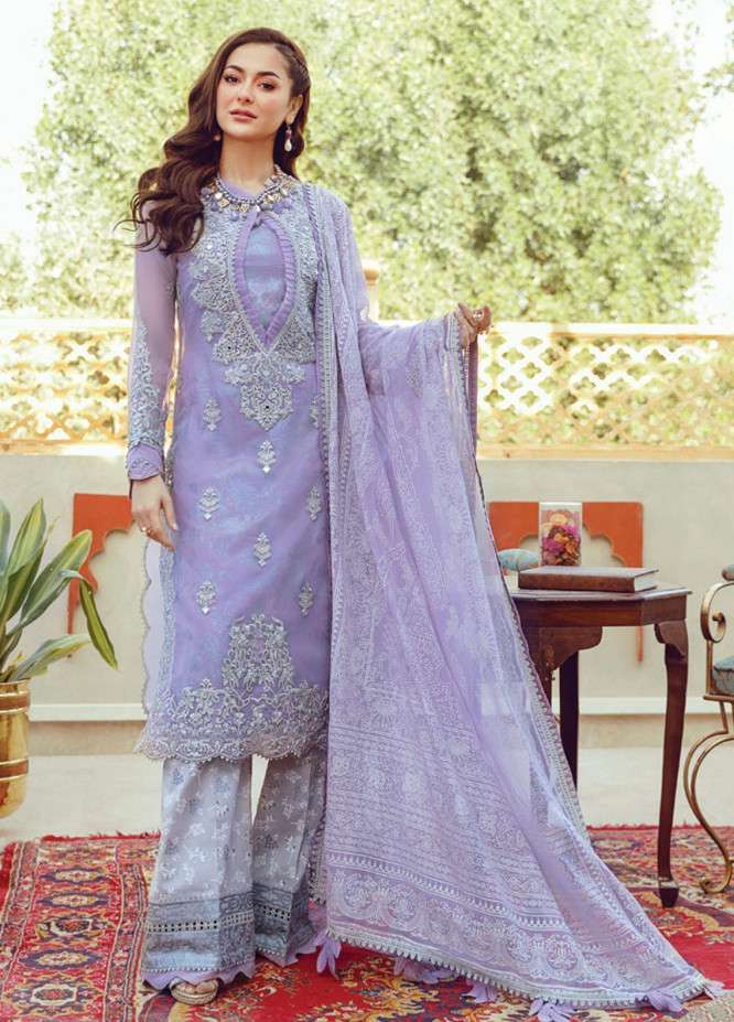Rabt By Asim Jofa Embroidered Lawn Suits Unstitched 3 Piece AJ21RL 05 - Luxury Collection