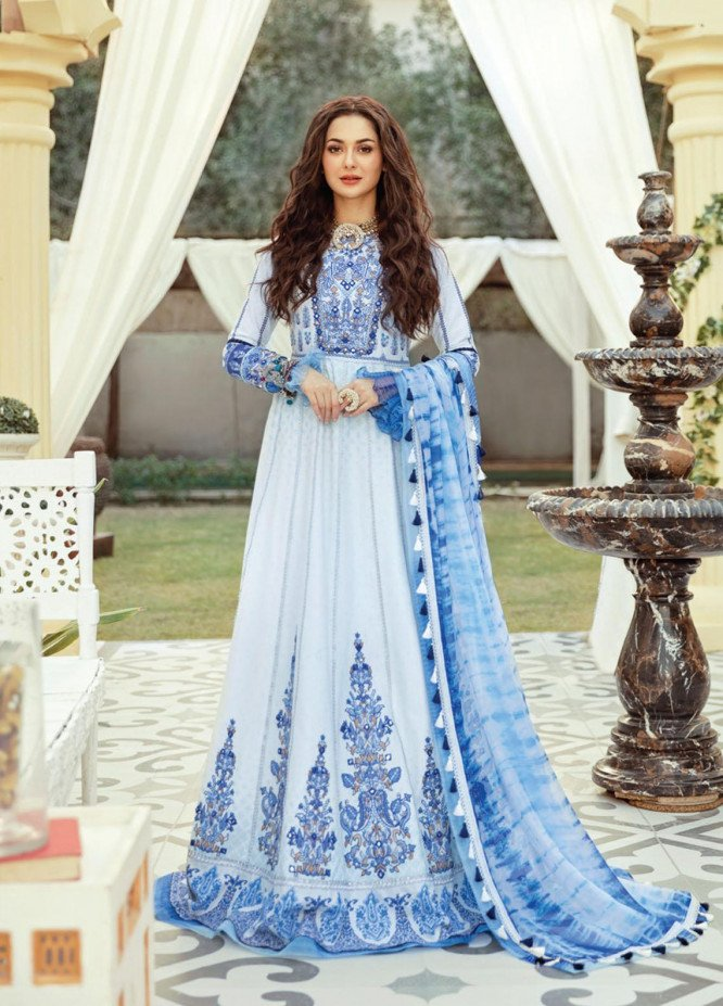 Rabt By Asim Jofa Embroidered Lawn Suits Unstitched 3 Piece AJ21RL 07 - Luxury Collection