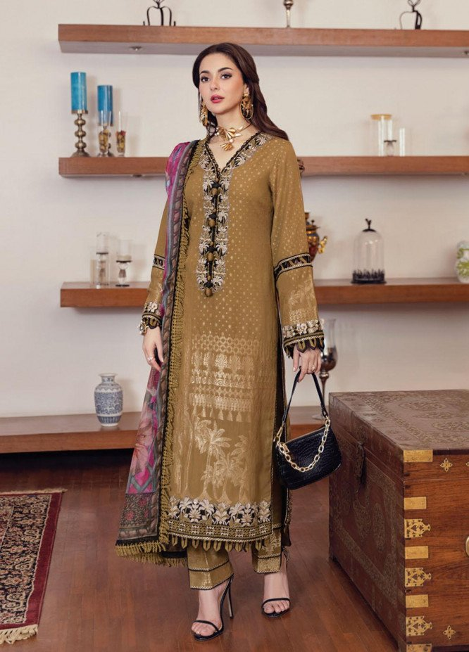 Rabt By Asim Jofa Embroidered Lawn Suits Unstitched 3 Piece AJ21RL 09 - Luxury Collection