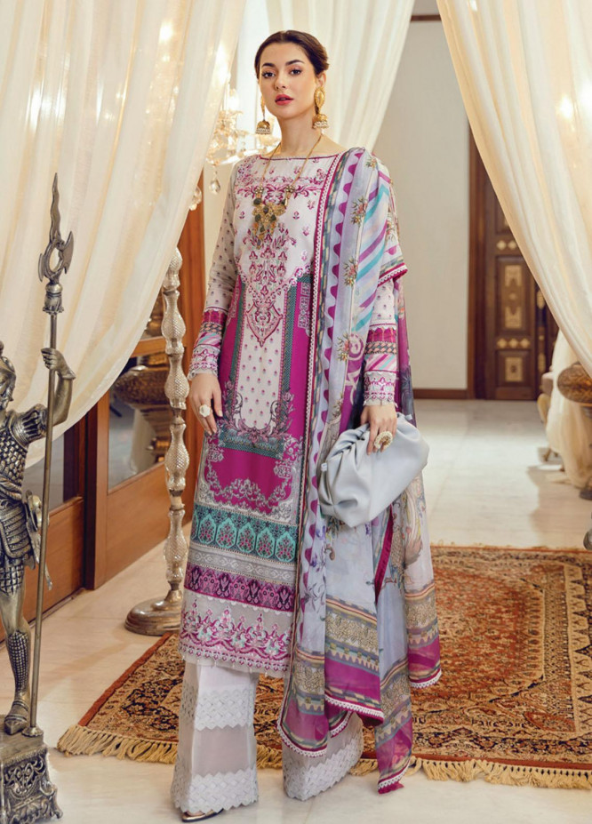 Rabt By Asim Jofa Embroidered Lawn Suits Unstitched 3 Piece AJ21RL 14 - Luxury Collection