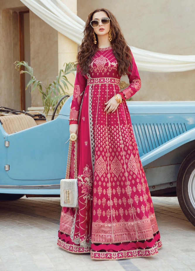 Rabt By Asim Jofa Embroidered Jacquard Suits Unstitched 3 Piece AJ21RL 20 - Luxury Collection
