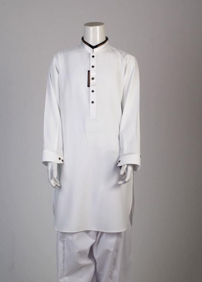 Aizaz Zafar Cotton Fancy Suits for Boys - White AZ18B 013