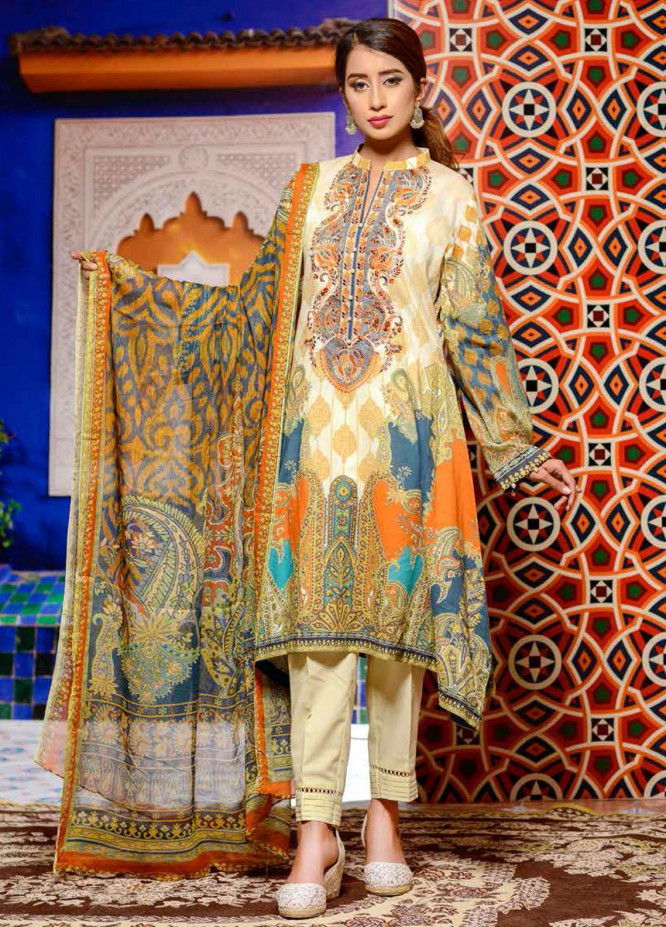 Azal By Zebaish Embroidered Lawn Suits Unstitched 3 Piece ZSH21A 10 - Summer Collection