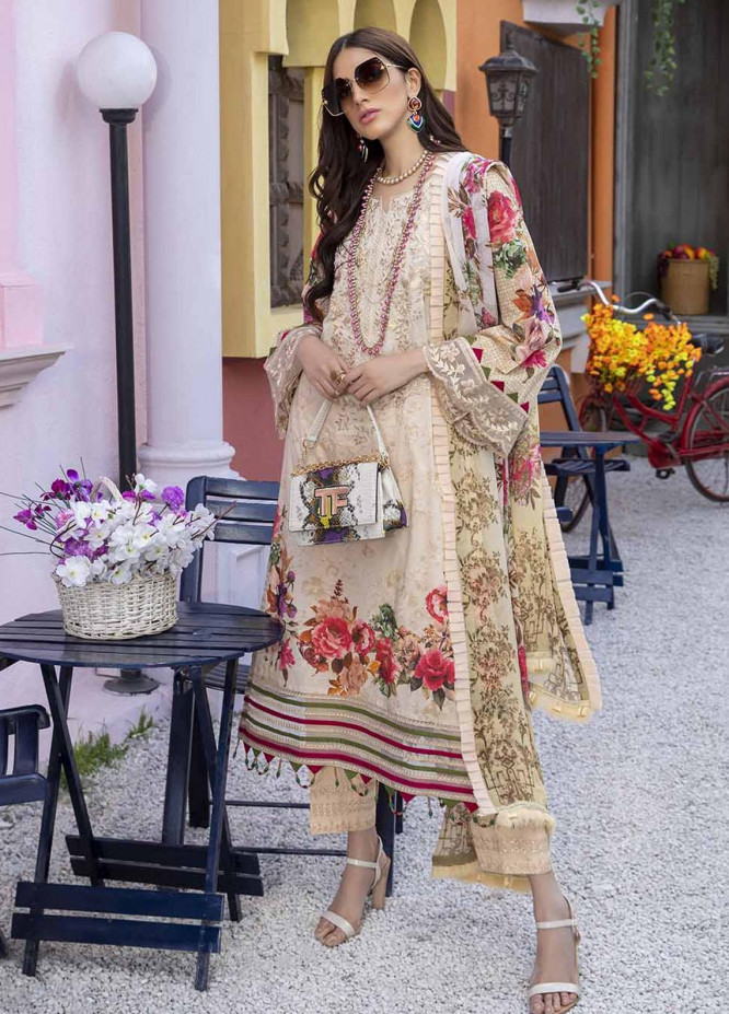 Azure Embroidered Lawn Suits Unstitched 3 Piece AZU21L Floral Evening - Luxury Collection