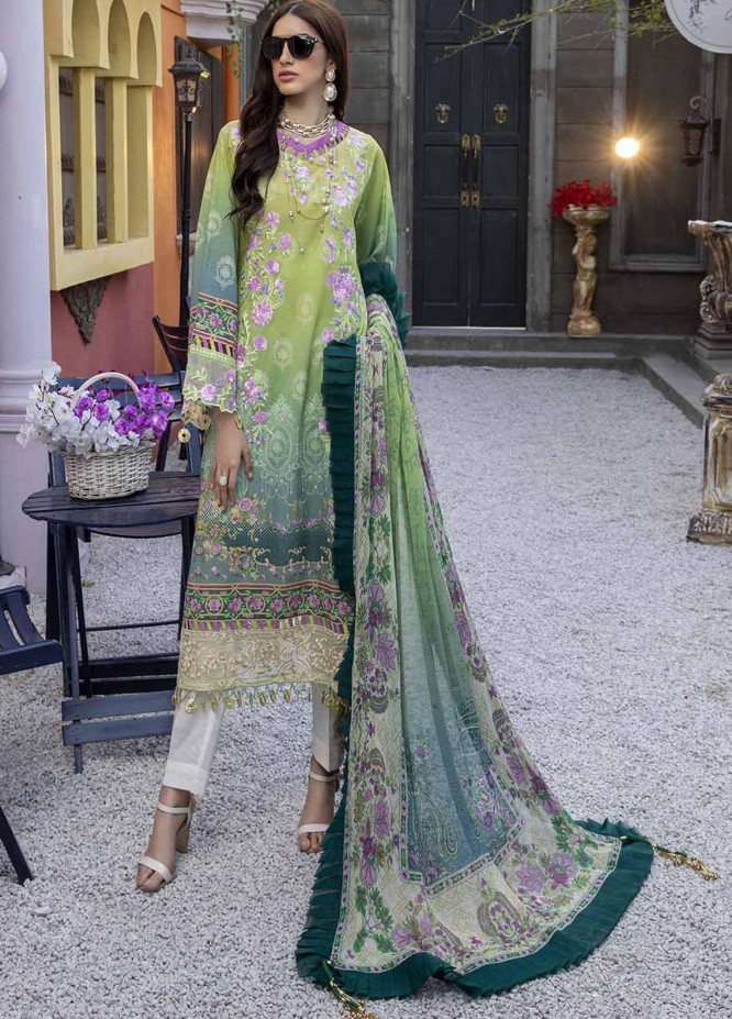 Azure Embroidered Lawn Suits Unstitched 3 Piece AZU21L Gardenia - Luxury Collection