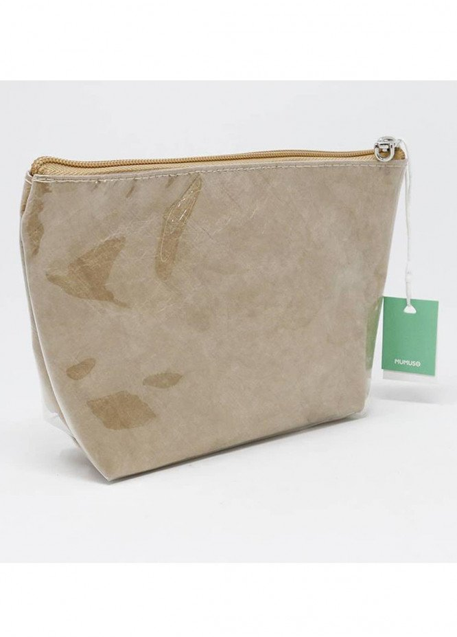Mumuso WATER-PROOF COSMETIC BAG (TRAPEZOID-LIGHT BROWN)