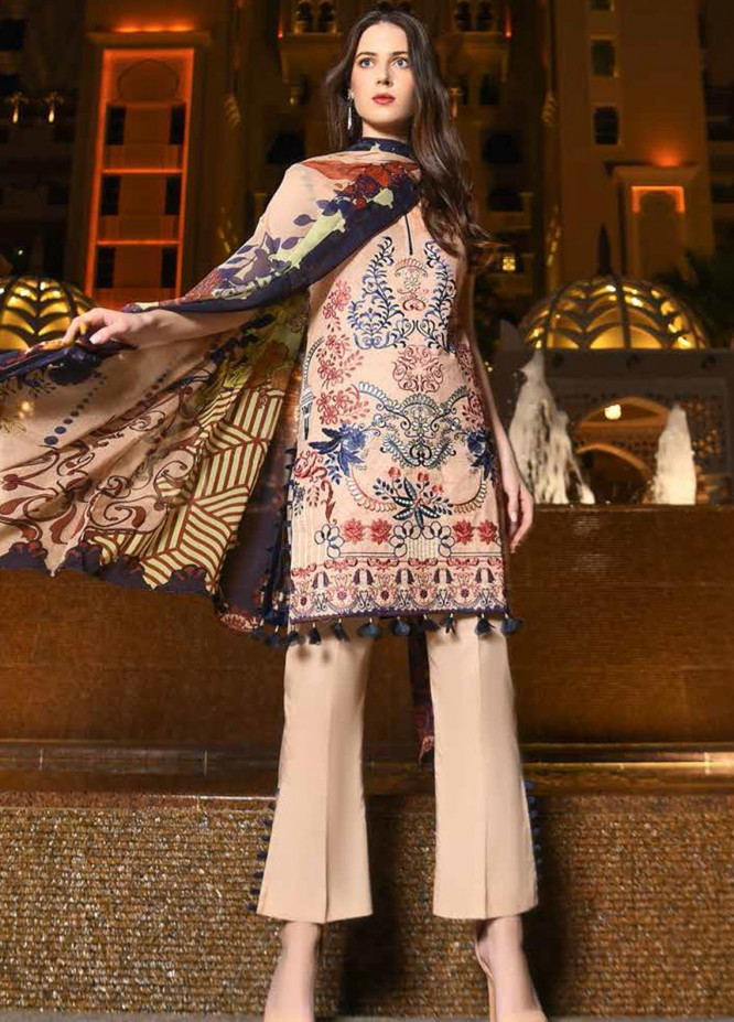Banafsheh Embroidered Lawn Unstitched 3 Piece Suit BF20L 4 - Luxury Collection
