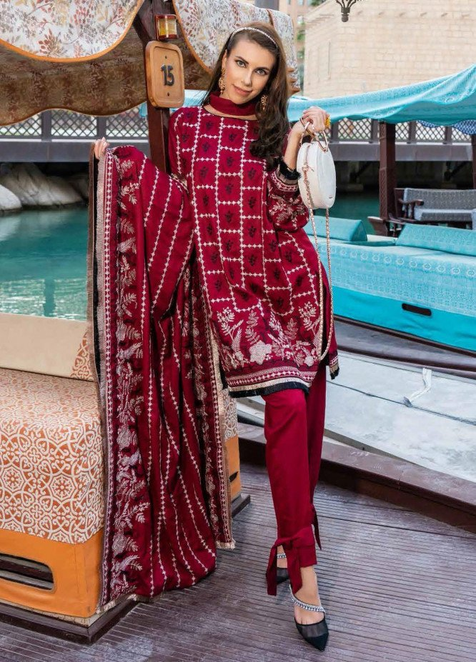 Banafsheh Embroidered Dhanak Unstitched 3 Piece Suit BF20SH 03 - Winter Collection