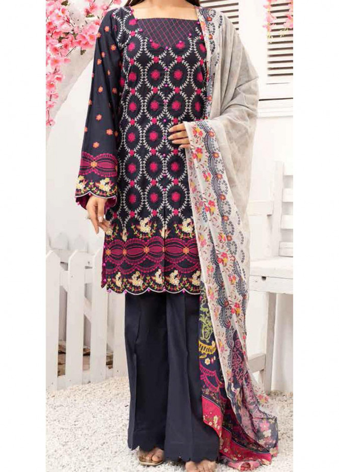 Banafsheh Embroidered Lawn Suits Unstitched 3 Piece BF21PE D-03 - Summer Collection