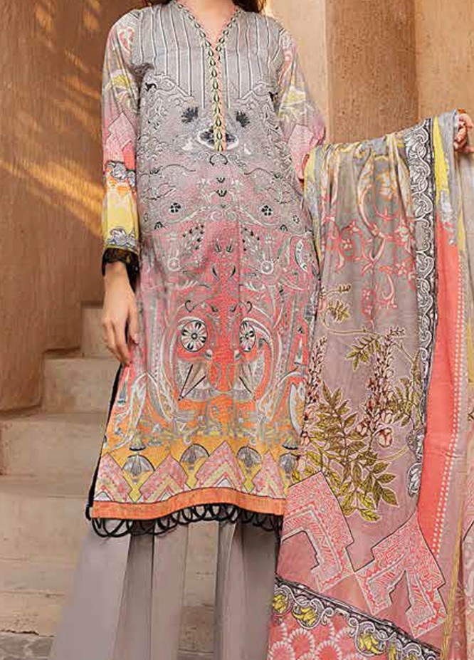 Banafsheh Printed Lawn Suits Unstitched 3 Piece BF21L 02 - Summer Collection