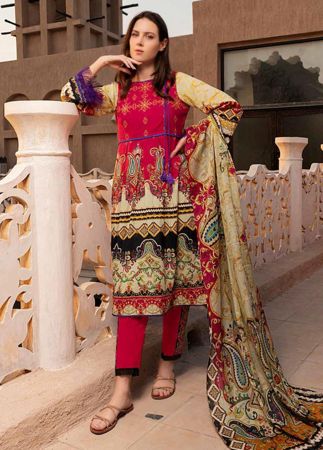 Banafsheh Printed Lawn Suits Unstitched 3 Piece BF21L 04 - Summer Collection