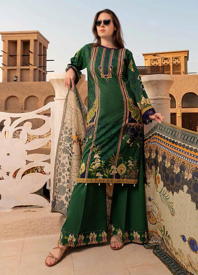 Banafsheh Printed Lawn Suits Unstitched 3 Piece BF21L 05 - Summer Collection