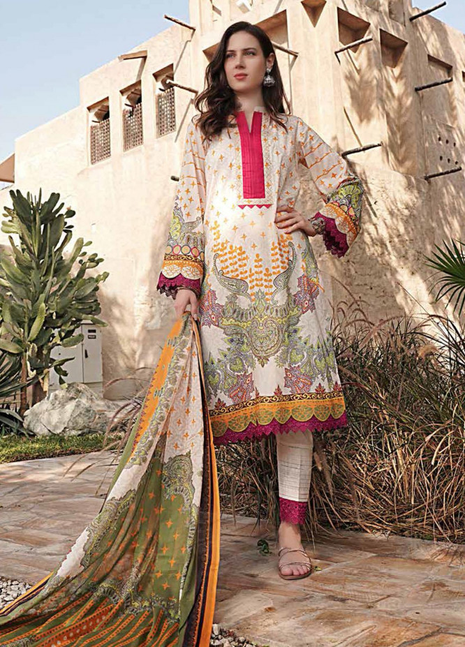Banafsheh Printed Lawn Suits Unstitched 3 Piece BF21L 06 - Summer Collection