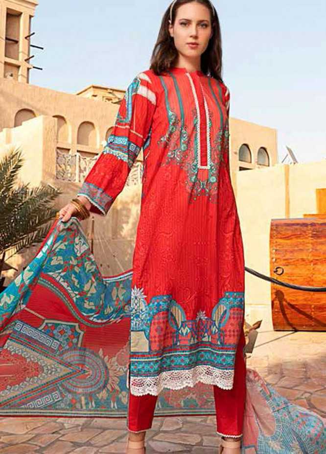Banafsheh Printed Lawn Suits Unstitched 3 Piece BF21L 07 - Summer Collection